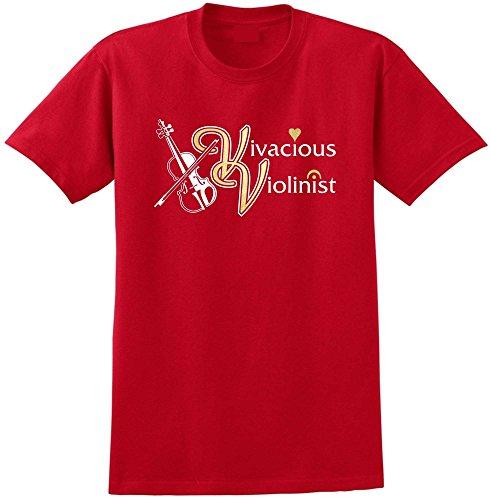 Violin Vivacious Violinist - Red Rot T Shirt Größe 87cm 36in Small MusicaliTee - Infeld Rot Violine E-saite