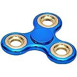 Toyshine Chrome Edition Fidget Spinner, Blue