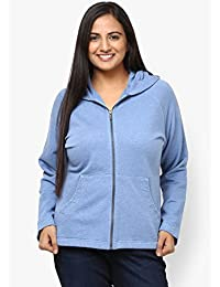 GRAIN Sky Blue Color Regular fit Cotton Jackets for Women