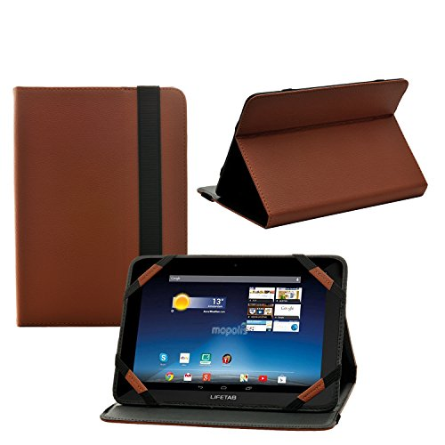 iprotect Kunstleder Tasche für MEDION LIFETAB Schutz Hülle Case mit Stylus Pen für S7852 MD98625 7,85 Zoll braun