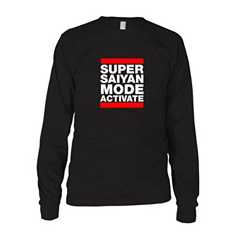 DBZ: Super Saiyan Mode Activate - Herren Langarm T-Shirt Schwarz