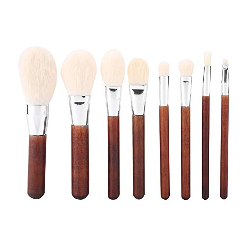 Maquillage Brush Set, 8 Pcs Portable Brush Kit Sourcils Fondation Correcteur Ombre À Paupières Highlight Brosse Cosmétique(Silver)