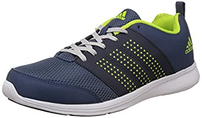 Adidas Men's Adispree M Blue, Dark Blue, Yellow and Silver Running Shoes - 9 UK/India (43.3 EU) (B79045)