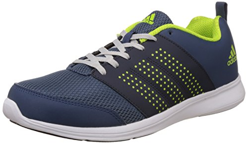11. Adidas Men's Adispree M Blue, Dark Blue, Yellow and Silver Running Shoes