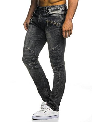 LEIF NELSON Herren Hose Biker Jeans Stretch Jeanshose Destroyed Freizeithose Denim Slim Fit Chinos Cargo Jogger Basic