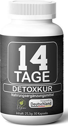 14 Tage Detox Kur – Körper Entgiftung und Darmreinigung – Geld-Zurück-Garantie – Vegetarisch und Vegan – Detox Kapseln