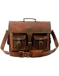 Mk Bags Brown Leather Laptop Bag 1012