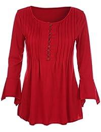 Amazon.es: Con botones - Blusas y camisas / Camisetas, tops y blusas: Ropa