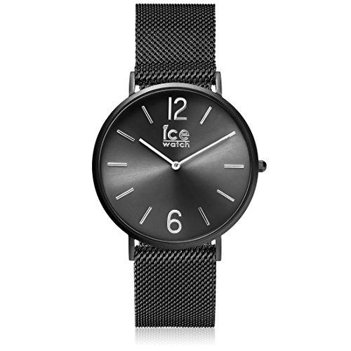 ICE-Watch - 012698 - City Milanese - Montre Homme - Cadran Noir - Bracelet Acier Noir - Medium - 2H