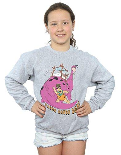 tones Mädchen Yabba Dabba DOO Sweatshirt 9-11 Years Sport Grey ()