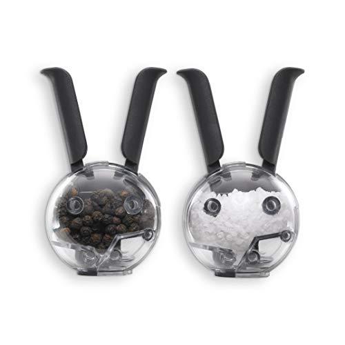 Chef´n 101-033-001 Mini Magnetic Set magnetische Mini-Peffer- und Salzmühle, schwarz-transparent