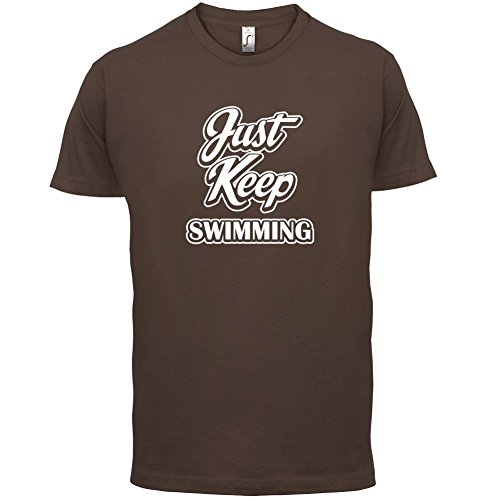 Just Keep Swimming - Herren T-Shirt - 13 Farben Schokobraun