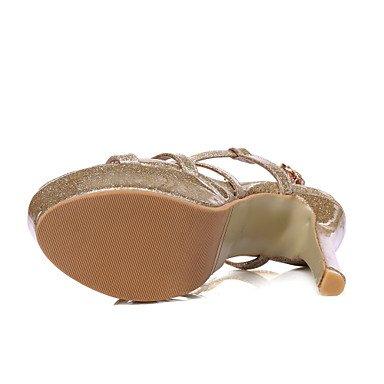 LvYuan Da donna Sandali Comoda Cinturino alla caviglia Finta pelle Estate Formale Serata e festa Comoda Cinturino alla caviglia A stilettoOro Silver