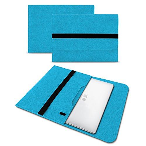 UC-Express Sleeve Hülle Odys Trendbook 14 Pro Tasche Filz Notebook Cover 14' Laptop Schutz Case, Farbe:Türkis