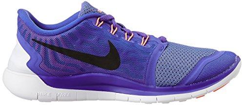 Nike Wmns Free 5.0 - Scarpe sportive Donna Viola (prsn violet/black-almnm-fuchsia glow)