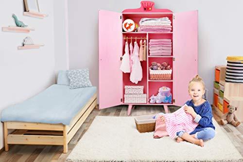 Labebe mobili bambini armadietto armadio in legno con 5 scaffale