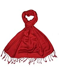 79801ffc979b8 Craftshub Casual Soft Luxurious Solid Viscose Pashmina All Season Stole  Scarf for Women and Men