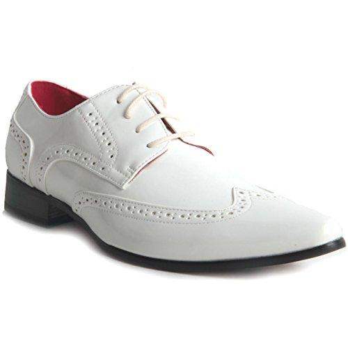 Rossellini  Prato Z2, Chaussures de ville à lacets pour homme Blanc