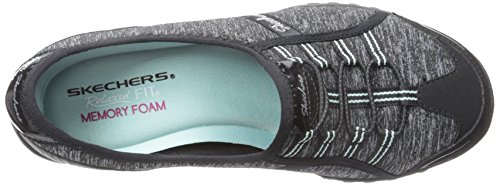 Skechers Breathe-easy allure, Baskets Basses femme Noir/bleu