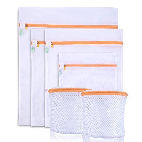 Filet Linge Lot de 6 Sacs pour Machien à Laver Lavage de Vêtements, Sous Vêtements, Soutien Gorge, Chaussettes - MIU COLOR
