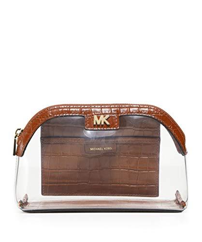 8a721e6eec MICHAEL Michael Kors Mujeres bolsa de viaje grande de PVC y cuero Marrón  única Talla