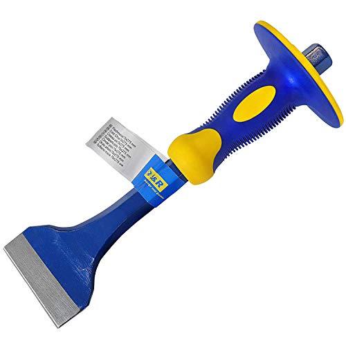 S&R Flachmeißel 275 x 72 mm aus CHROM-VANADIUM Stahl mit Handschutz | Meissel | Handmeissel | Spatmeißel | Brechstange | Stemmeisen