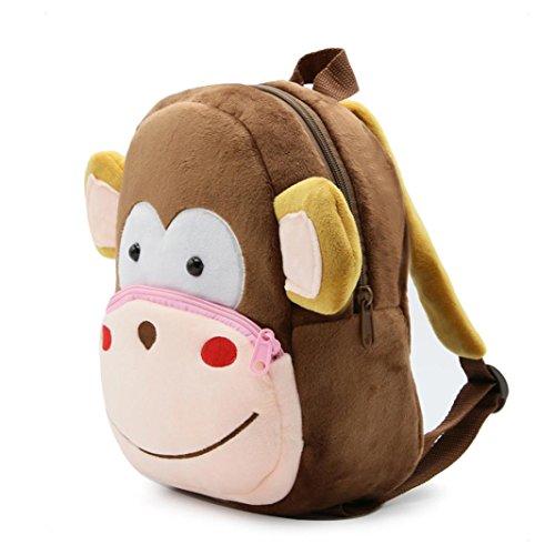 AMUSTER Peluche jouet bébé sac de dessin animé mignon enfant bébé fille enfant garçon mignon dessin animé animal sac à dos enfant sac (K)
