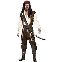 Smiffy's - Disfraz de pirata adultos, talla L (26224L)