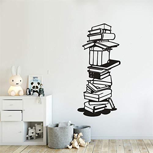 Lesen Wandaufkleber Arbeitszimmer Dekoration Vinyl Libary School Bücher Wandtattoo Buchhandlung Wandkunst Wand Libary Decor 57 * 123 cm