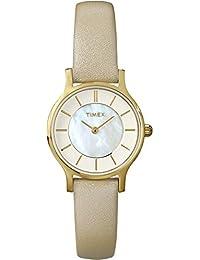 Timex Damen-Armbanduhr Analog Quarz Leder T2P313