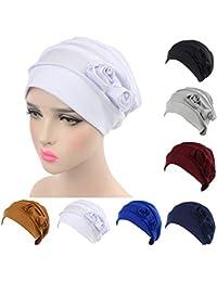 4d7b9e376728e ZYCC Mujeres Cabeza Bufanda Sombrero Gorra Chemo Cáncer Étnicas Tela  Imprimir Turbantes Gorros Estiramiento Flor musulmanes