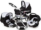 Poussette SaintBaby X-Move GO 2in1 3in1 Placez tout dans une Landau Blanc & Gris 2en1 sans siège bébé