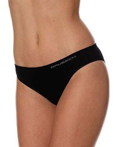 Brubeck 5x Set Comfort Cotton Damen Bikini Slip | Perfect Fit | Unterwäsche | Sport | Funktionswäsche | Baumwolle/Polyamid | Premium Qualität, BI10020A XL; Schwarz (Höschen 5x)