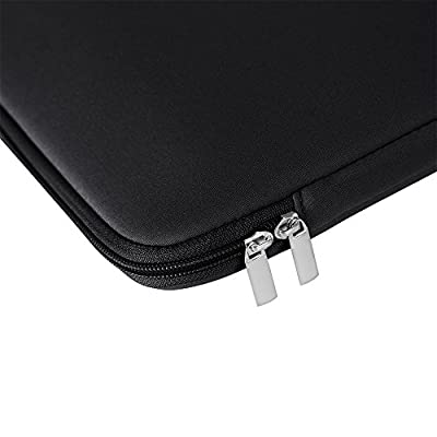 RAINYEAR Inch Laptop Sleeve Protective Case Soft Carrying Zipper Bag Cover with Front Pocket Accessories Pouch Compatible with Notebook Computer Ultrabook Chromebook Black