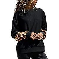 Hanomes Damen pullover, Frauen Leopard Print Langarm Pullover Bluse Shirts Sweatshirt preisvergleich bei billige-tabletten.eu