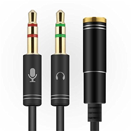 SKY ★★35cm 3.5mm estéreo de audio macho a 2 hembra Auriculares Mic Y Splitter Cable Adapter