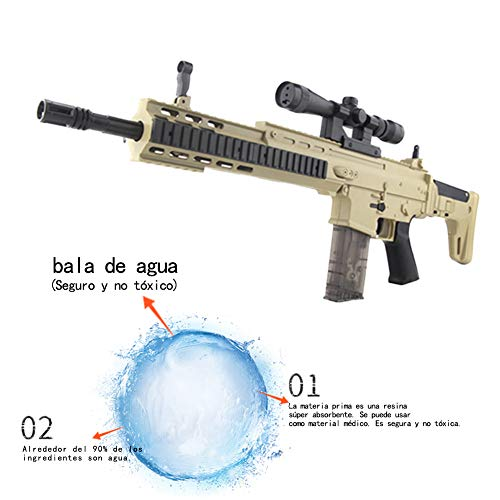 ShuaiMao 72 CM Arma de Bala de Agua-Arma -Scar-L Rifle de Francotirador Modelo de Juguete -Juguetes de Réplica de Armas para Niños Adultos