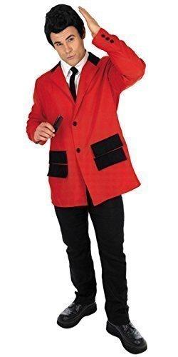 1950s Jahre Teddy Jungen Anzug 50s Jahre Party Kostüm Outfit M-XL - Rot, Large (1950's Jungen Kostüm)