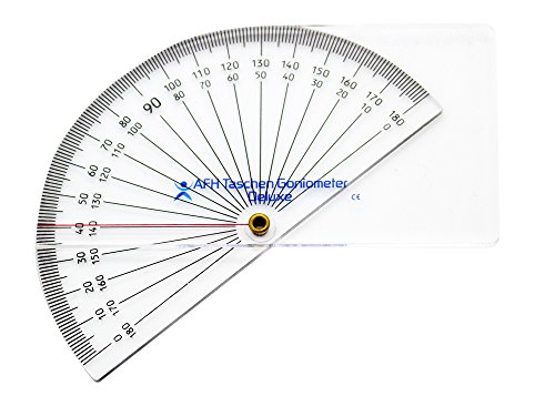 Winkelmesser Goniometer (Taschen Goniometer Deluxe | 0-180 Grad | Winkelmesser)