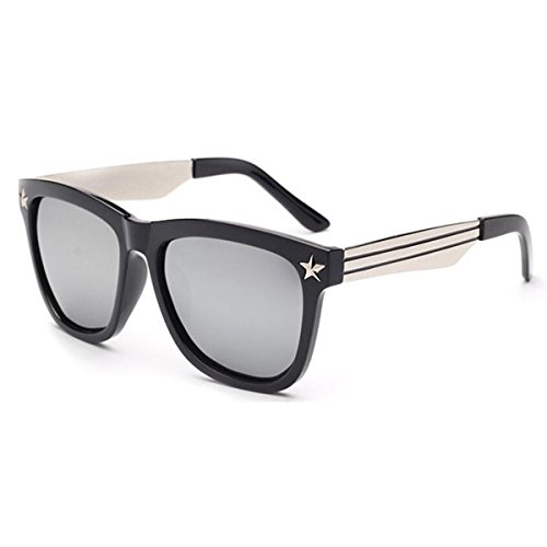Luxuriös Retro Polarisierte Sonnenbrille Kamera-Blitz Multicolor,WhiteMercury-150mm