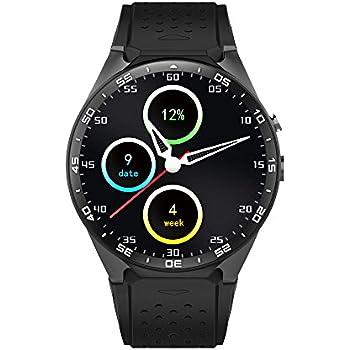 Kingwear KW88 Smartwatch Teléfono 3G WCDMA 1,39 pulgadas Pantalla MTK6580 Quad-core 1,3 GHz ROM 4 GB + 512 MB RAM Android 5.1 Cámara 2,0 MP Podómetro ...