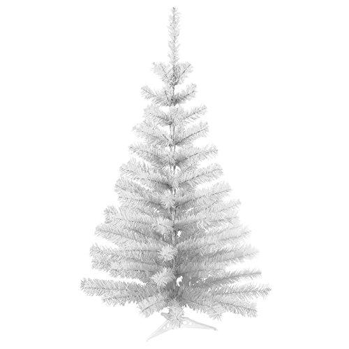 45 cm 45 Spitzen künstlicher Weihnachtsbaum Tannenbaum Christbaum in weiß inkl. Kunststofffuß Christbaumständer