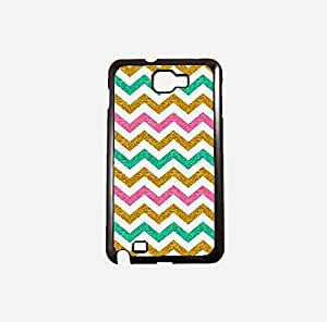 Krazycases Chevron With Glitter Back Shell Cover For Samsung Galaxy Note 2