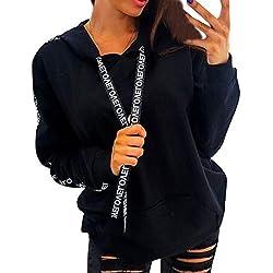 ❤️ Sudadera con Capucha Sudadera de Empalme, Tamaño Extra Grande para Mujer Sudadera de Manga Larga Sudadera con Capucha Tops Camisa Absolute