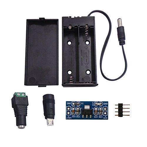 DSD TECH 18650 Portabatterie con 2 slot integrati per Arduino e fai-da-te