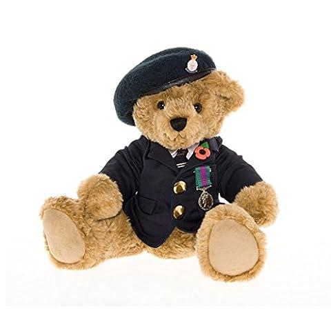 Ours en Peluche Ancien Combattant avec son Béret Bleu - La Great British Teddy Bear Company