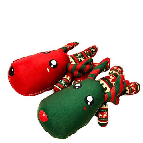 Naturalmente carbón de bambú bolsa de carbón de Navidad ciervos -Aire ambientador desodorante, sin perfume ambientador de aire del coche, coche de la decoración de Navidad (un par)