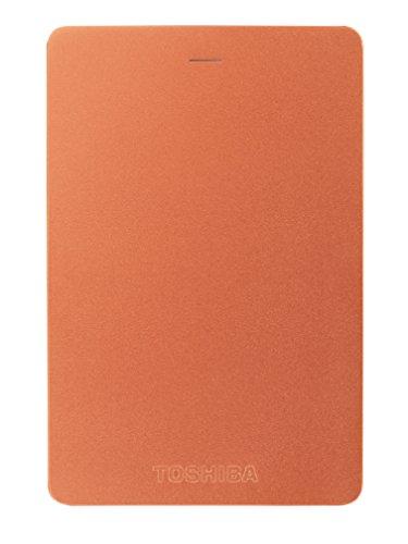 Toshiba Canvio Alu 1TB Externe Festplatte (6,4 cm (2,5 Zoll), 5400rpm, USB 3.0) rot