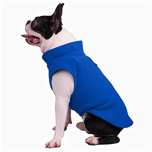 GOUSHENG-Costumes Haustiere Kleidung Kleider Winter Fleece Pet Kleidung Für Hunde Welpen Kleidung Französisch Bulldog Coat Mops Kostüme Jacke Für Kleine Hunde Chihuahua Coat Jacken, 3, XL (Bulldog Kostüm)