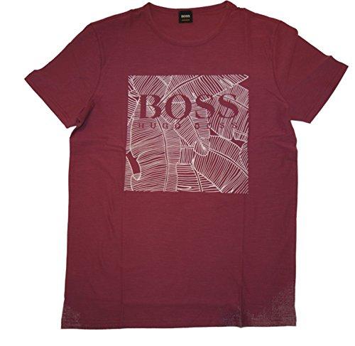 BOSS ORANGE Tee Shirt TARIT 1 mit Druck Farbe Dunkel Lila 505 (L)